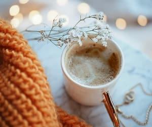 coffee, lights, and orange image