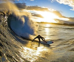 atardecer, sunset, and surf image