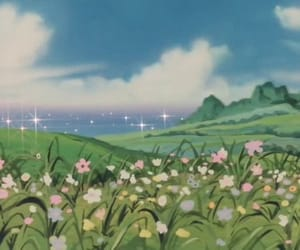 flowers and anime image