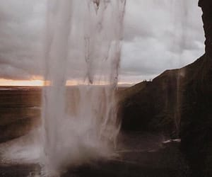 theme, waterfall, and water image