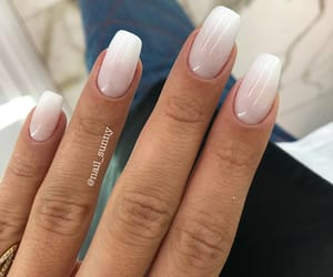 nails, pretty, and white nails image