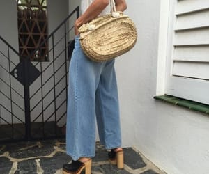 clogs, denim, and fashion image