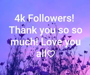 4k, thank you, and followers image