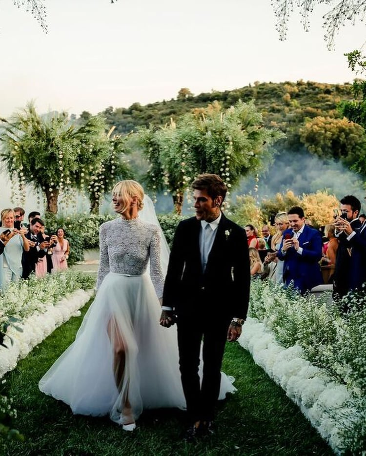 article, wedding gown, and fedez image