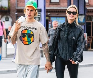 hailey baldwin, justin bieber, and candids image