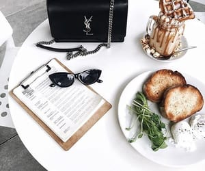 food, breakfast, and white image