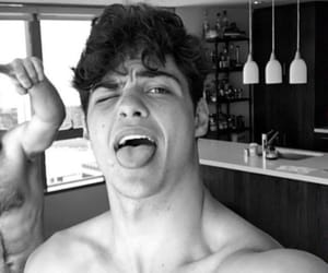 actor, b&w, and peter kavinsky image