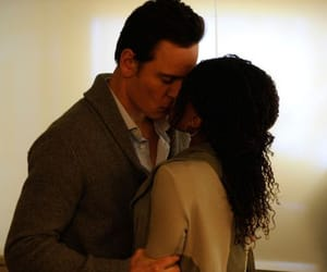 kiss, interracial couple, and michael fassbender image
