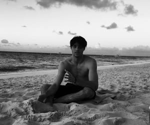 noah centineo, boy, and beach image