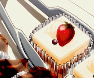 cake, dessert, and anime food image