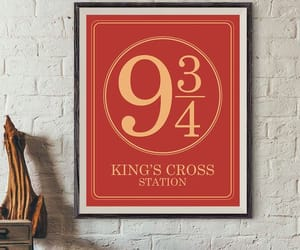 etsy, hogwarts express, and living room decor image