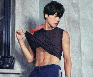 black hair, male, and bts image