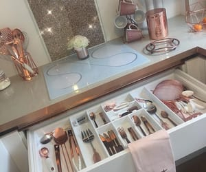 rose gold, girly, and glam image