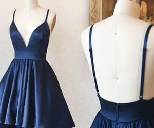 simple prom dress, short homecoming dresses, and v-neck homecoming dresses image