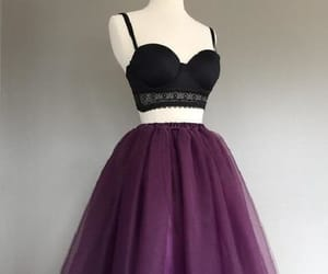 short homecoming dresses, cute party dress, and two pieces party dress image