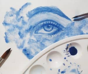 art, blue, and creative image