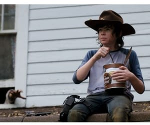 the walking dead, carl grimes, and chandler riggs image