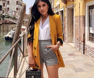 blazer, fashion, and shorts image