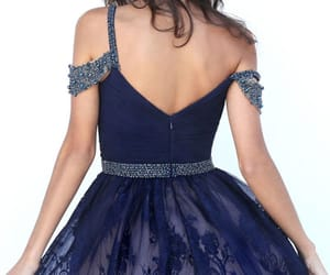 sherri hill homecoming, applique dresses, and navy short gowns image