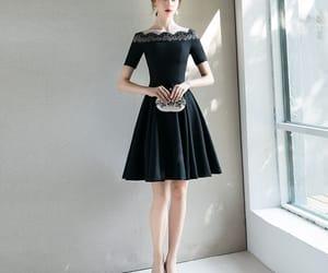 girl, formal dress, and homecoming dress image