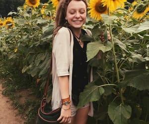 dreadlocks, sunflower, and dreads image