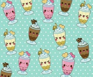 dessert, ice cream, and pattern image