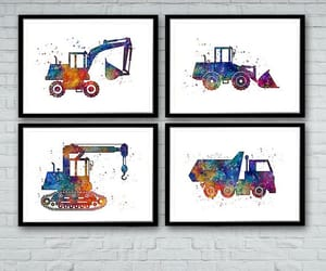 art prints, nursery decor, and kids room image