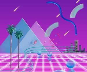 aesthetic, purple, and vaporwave image