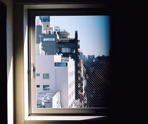 buildings, dark room, and morning image
