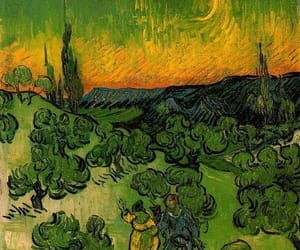 art, van gogh, and couple image