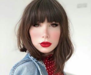 bangs, cabelo, and girl image