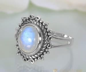 moonstone ring, jewelry store, and gemstone ring image
