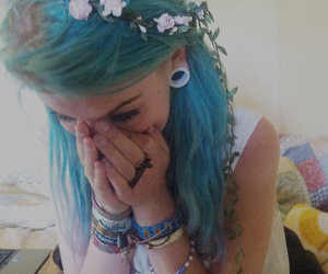 blue, cutee, and emo image
