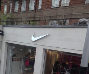 nike, shop, and store image