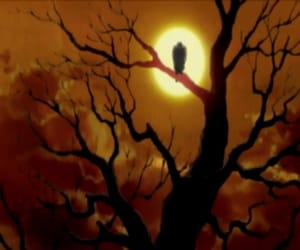 anime, crow, and Darkness image