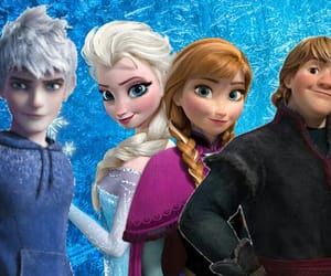 anna, frozen, and jack frost image
