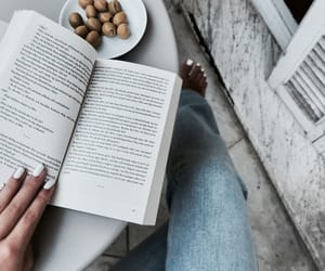 book, denim, and fashion image
