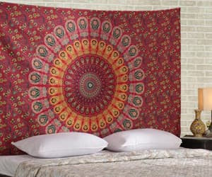 wall hanging, hippie tapestry, and mandala wall decor image