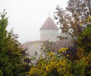 autumn, fog, and house image