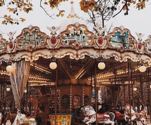 autumn, carousel, and childhood image