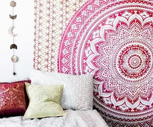 table cloth, wall hanging, and ombre tapestry image