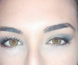 brown eyes, green eyes, and makeup image