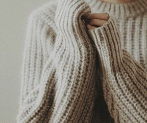 sweater, cozy, and fall image