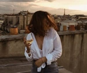 girl, fashion, and wine image