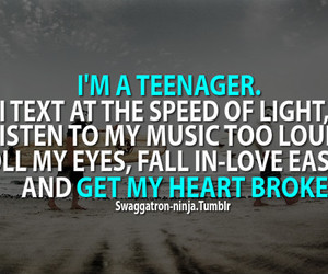 teenager, quote, and music image