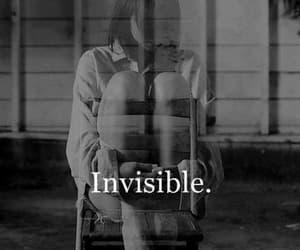 invisible, sad, and alone image