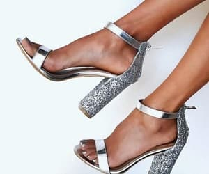 shoes, fashion, and silver image