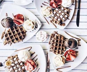 food, waffles, and chocolate image