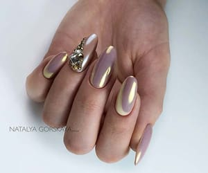 chrome, nail art, and nails image