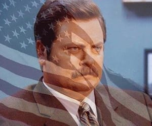 parks and rec, swanson, and ron swanson image